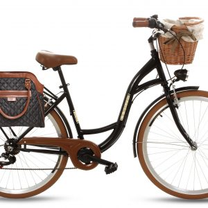 Retro taška na bicykel ČIERNA