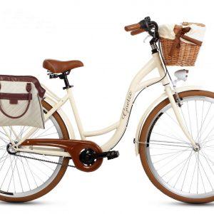Retro taška na bicykel KRÉMOVÁ