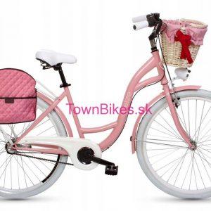 Retro taška na bicykel RUŽOVÁ