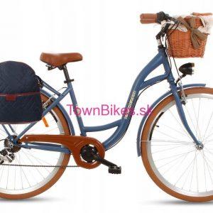 Retro taška na bicykel TMAVOMODRÁ