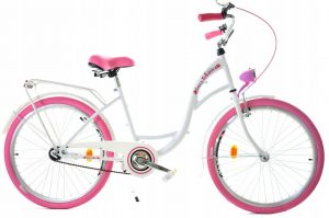 Retro bicykel detský DALLAS bielo ružový