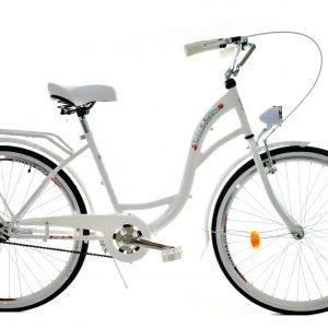 Retro bicykel DALLAS biely