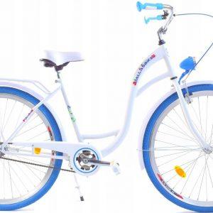 Retro bicykel DALLAS bielo modrý
