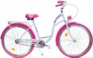 Retro bicykel DALLAS bielo ružový