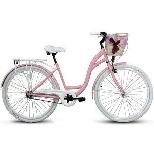 Retro bicykel GOETZE STYLE bielo-ružový