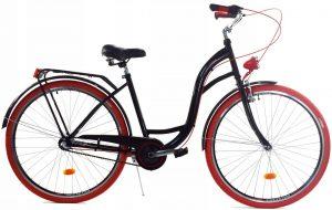 Retro bicykel DALLAS čierno červený