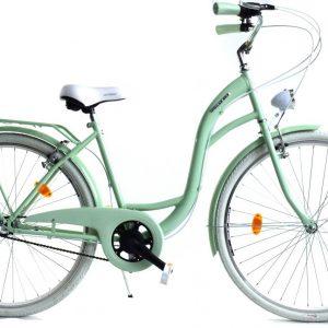 Retro bicykel DALLAS zeleno biely