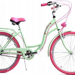 Retro bicykel DALLAS zeleno ružový
