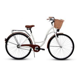 Retro bicykel GOETZE CLASSIC bielo-hnedý