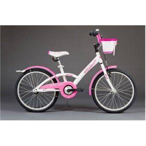 Detský bicykel ROSE bielo ružový 5-8 rokov