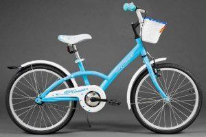 Detský bicykel ROSE bielo modrý 5-8 rokov