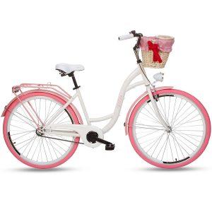 Retro bicykel GOETZE COLOURS bielo-ružový