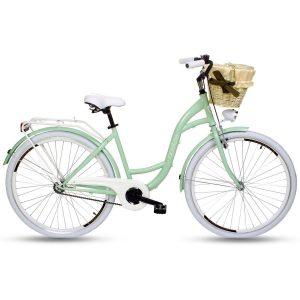 Retro bicykel GOETZE STYLE krémovo-zelený