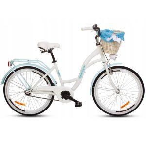 Detský retro bicykel GOETZE STYLE bielo-modrý