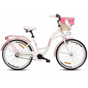 Detský retro bicykel GOETZE STYLE bielo-ružový
