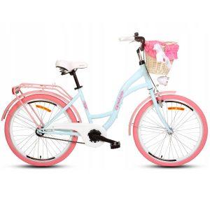Detský retro bicykel GOETZE STYLE modro ružový