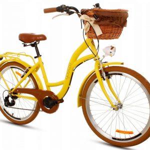 Detský retro bicykel GOETZE MOOD žlto hnedý