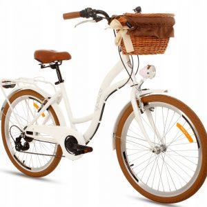 Detský retro bicykel GOETZE MOOD bielo hnedý