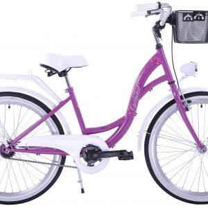 Detský retro bicykel KOZBIKE bielo fialový