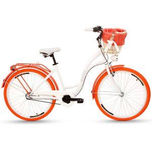 Retro bicykel GOETZE COLOURS bielo-oranžový