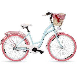 Retro bicykel GOETZE COLOURS modro-ružový