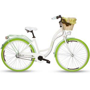 Retro bicykel GOETZE COLOURS bielo zelený