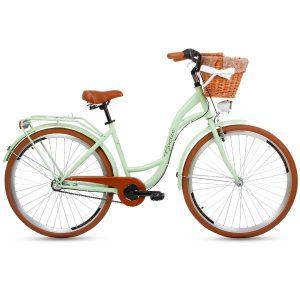 Retro bicykel GOETZE STYLE pistáciovo-hnedý