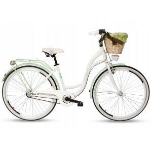 Retro bicykel hliníkový GOETZE BLUEBERRY bielo zelený (Kópia)