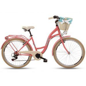 Retro bicykel GOETZE MOOD korálový