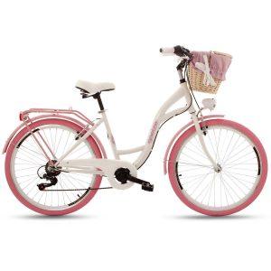 Retro bicykel GOETZE MOOD bielo-ružový