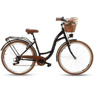 Retro bicykel GOETZE MOOD čierno-hnedý