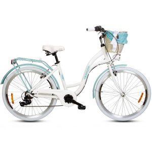 Retro bicykel hliníkový GOETZE MOOD bielo modrý