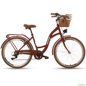 Retro bicykel GOETZE MOOD rubínový
