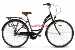 Retro bicykel VELLBERG čiernej farby 28 3-prevodový 2019