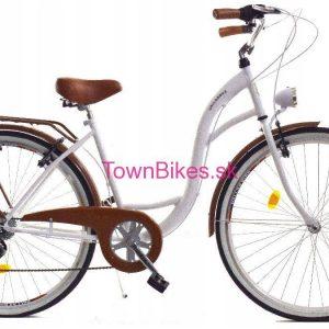 Retro bicykel DALLAS bielo-hnedý