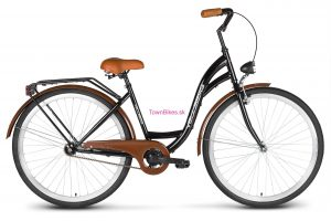 """RETRO bicykel štýlový VELLBERG 28"""" 1 prevodový čierno-hnedý 2019"""