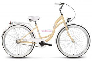 "Retro bicykel Vellberg Lavender 26"" tmavo krémovo-biely NOVINKA 2019"