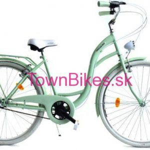Retro bicykel DALLAS pistáciovo-biely