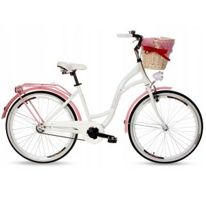 Retro bicykel GOETZE BLUEBERRY ružovo-biely