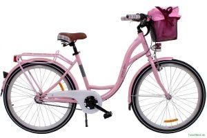 Retro bicykel GOOSE ELITE Ružový