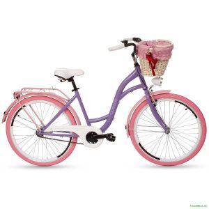 Retro bicykel GOETZE COLOURS fialovo-ružový