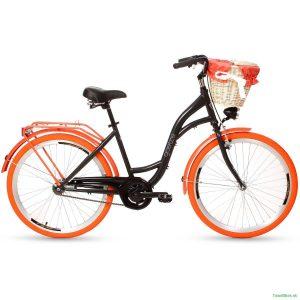 Retro bicykel GOETZE COLOURS čierno-oranžový