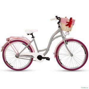 Retro bicykel GOETZE COLOURS grafitovo-ružový