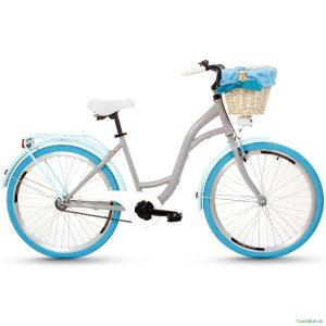 """Retro bicykel GOETZE COLOURS 26"""" jednoprevodový grafitovo-modrý 2019"""