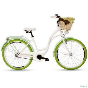 Retro bicykel GOETZE COLOURS bielo-zelený
