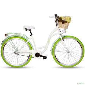 Retro bicykel GOETZE COLOURS/STYLE bielo-zelený