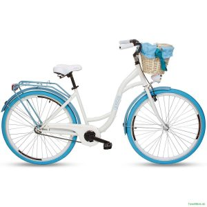 Retro bicykel GOETZE COLOURS/STYLE bielo-modrý