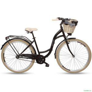 Retro bicykel GOETZE COLOURS čierno-krémový