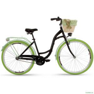 Retro bicykel GOETZE COLOURS čierno-zelený