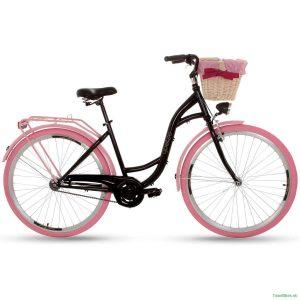 Retro bicykel GOETZE COLOURS čierno-ružový